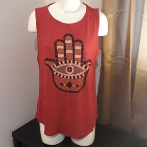 Lucky Brand Red Tee Like New Size XXL